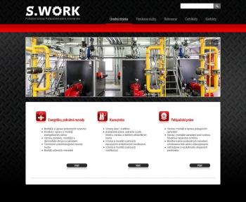 Web presentation for S.WORK s.r.o.