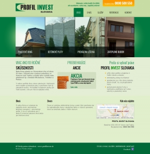 Webpräsentation - Profil Invest Slovakia s.r.o.