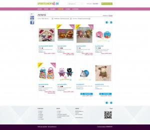 Online shop www.sporitelnicky.sk