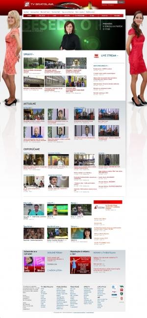Web presentation for TV BRATISLAVA