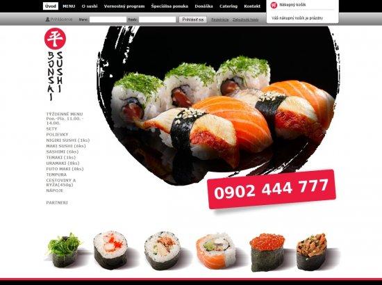 Internetový obchod BonsaiSushi