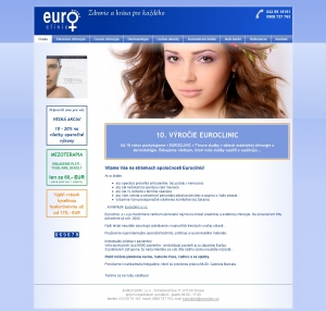 Web presentation for Euroclinic, s.r.o.