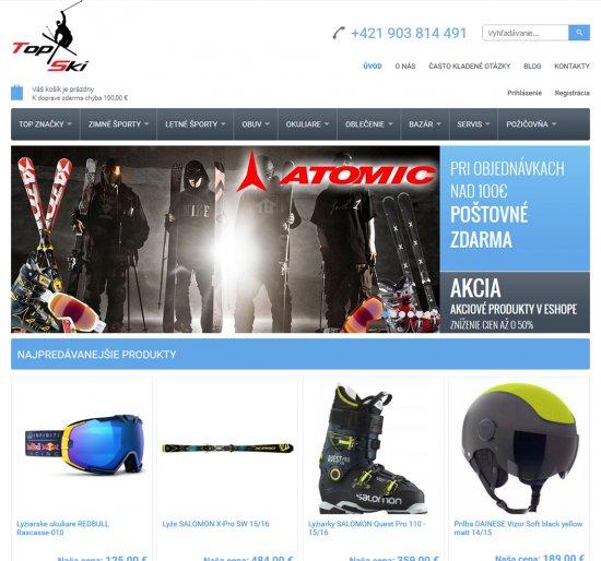 Internetový obchod pre Top Ski šport, s.r.o.
