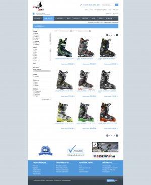 Online shop for Top Ski šport, s.r.o.