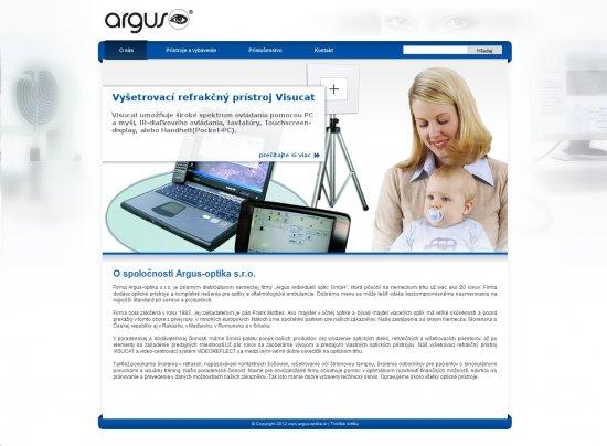Webová prezentácia pre Argus-optika s.r.o.