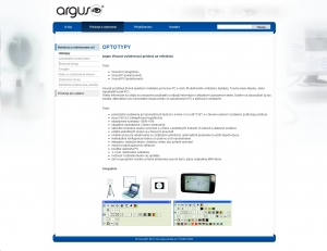 Web presentation for Argus-optika s.r.o.