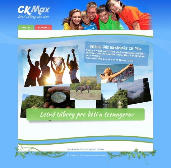 Webová prezentácia pre CK Max, s.r.o.