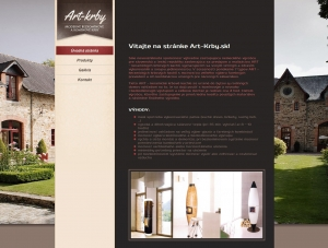 Web presentation for Art-Krby