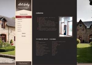 Web presentation for Art-Krby