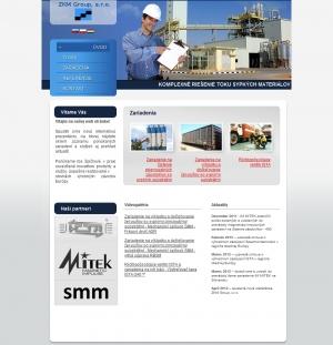 Webpräsentation für ZKM Group, s.r.o.
