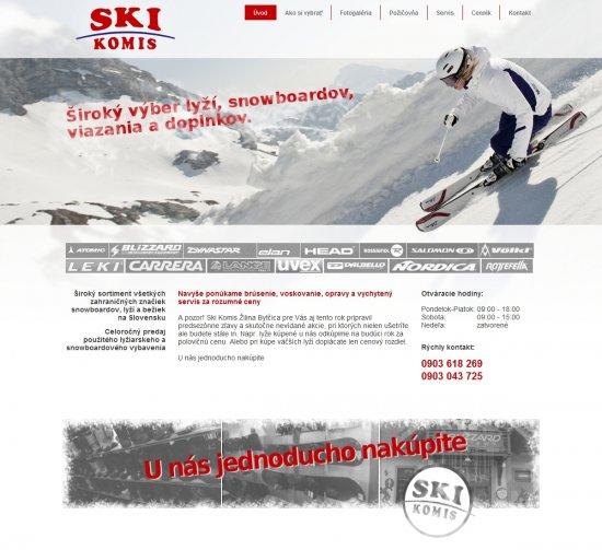 Webová prezentácia pre Ski Komis
