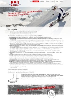 Webpräsentation für Ski Komis