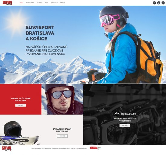 Webová prezentácia pre SuwiSport